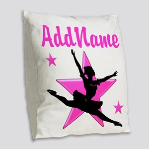 DANCE SUPER STAR Burlap Throw Pillow
