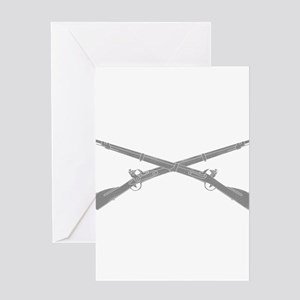 Infantry Crossed Rifles Greeting Cards