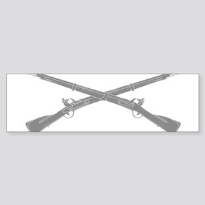 Infantry Crossed Rifles Bumper Sticker