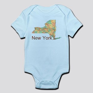 Map of New York State 2 Body Suit