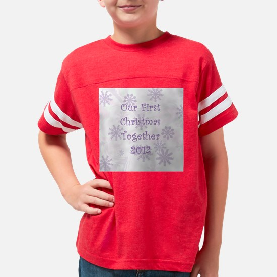 Snowflakes First Christmas To Youth Football Shirt