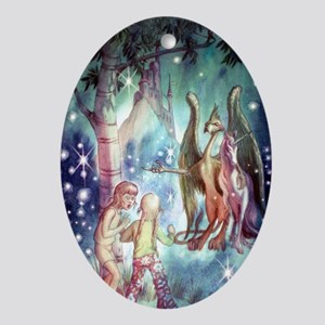 Welcome to Fairyland Ornament (Oval)