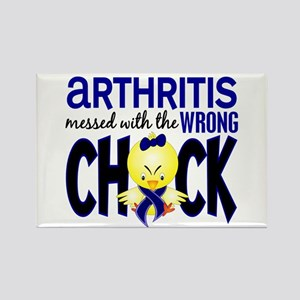 Arthritis Messed With Wrong Chick Rectangle Magnet