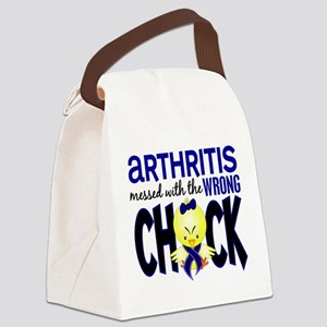 Arthritis Messed With Wrong Chick Canvas Lunch Bag