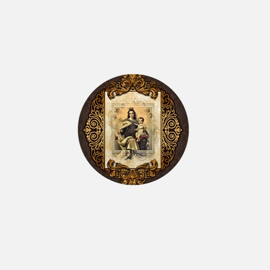 Our Lady of Mt Carmel Mini Button