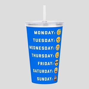 Emoji Days of the Week Acrylic Double-wall Tumbler