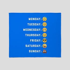 Emoji Days of the Week Throw Blanket