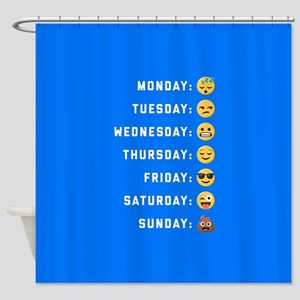 Emoji Days of the Week Shower Curtain