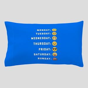 Emoji Days of the Week Pillow Case