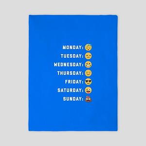 Emoji Days of the Week Twin Duvet Cover