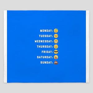 Emoji Days of the Week King Duvet