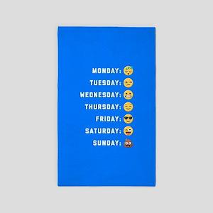Emoji Days of the Week Area Rug