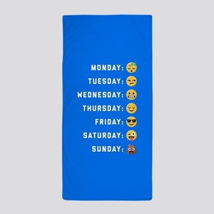 Emoji Days of the Week Beach Towel