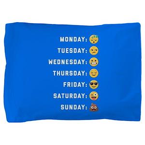 Emoji Days of the Week Pillow Sham