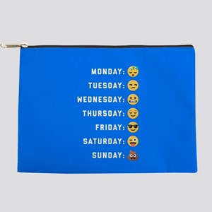 Emoji Days of the Week Makeup Pouch