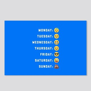 Emoji Days of the Week Postcards (Package of 8)