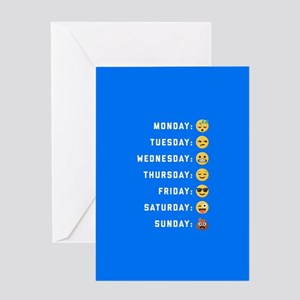Emoji Days of the Week Greeting Card