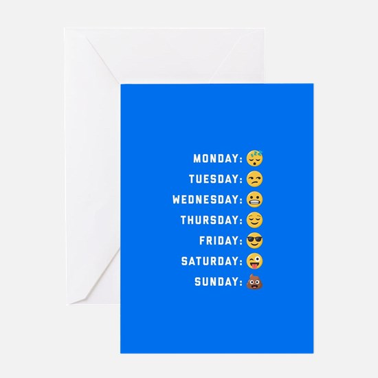 Emoji Days of the Week Greeting Card