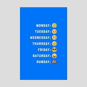 Emoji Days of the Week Mini Poster Print