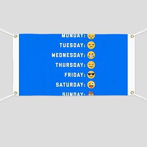 Emoji Days of the Week Banner