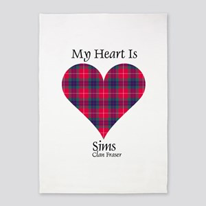 Heart-Sims.Fraser 5'x7'Area Rug