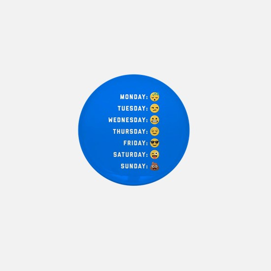 Emoji Days of the Week Mini Button