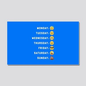 Emoji Days of the Week Car Magnet 20 x 12