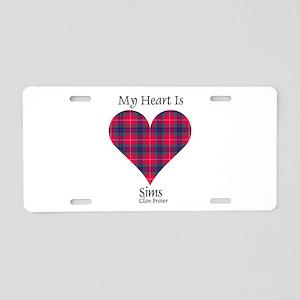 Heart-Sims.Fraser Aluminum License Plate