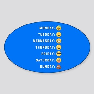 Emoji Days of the Week Sticker (Oval)