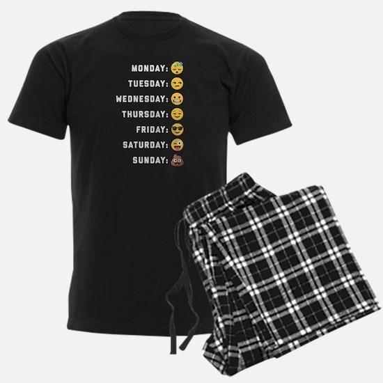 Emoji Days of the Week Pajamas