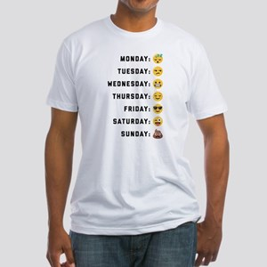 Emoji Days of the Week Fitted T-Shirt