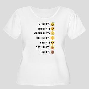 Emoji Days of Women's Plus Size Scoop Neck T-Shirt