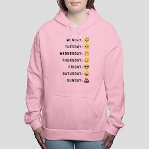 Emoji Days of the Week Women's Hooded Sweatshirt