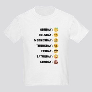 Emoji Days of the Week Kids Light T-Shirt