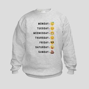 Emoji Days of the Week Kids Sweatshirt