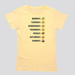 Emoji Days of the Week Girl's Tee
