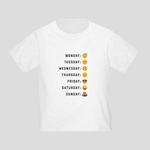 Emoji Days of the Week Toddler T-Shirt
