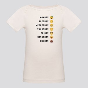 Emoji Days of the Week Organic Baby T-Shirt