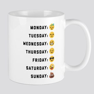 Emoji Days of the Week 11 oz Ceramic Mug