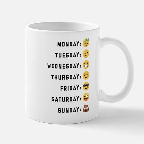 Emoji Days of the Week Mug
