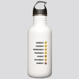Emoji Days of the Week Stainless Water Bottle 1.0L