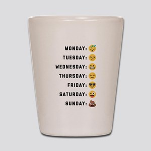 Emoji Days of the Week Shot Glass