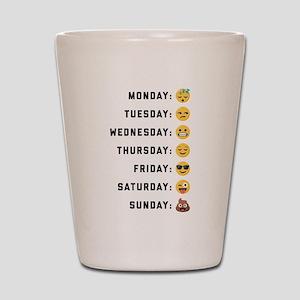 Emoji Days of the Week Shot Glass