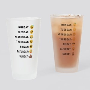 Emoji Days of the Week Drinking Glass