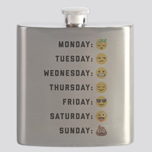 Emoji Days of the Week Flask