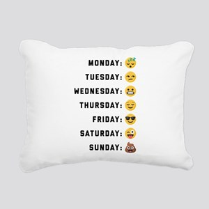 Emoji Days of the Week Rectangular Canvas Pillow