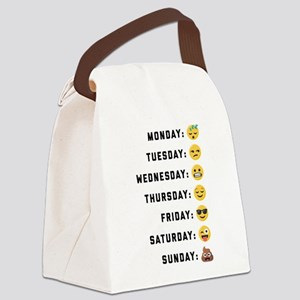 Emoji Days of the Week Canvas Lunch Bag
