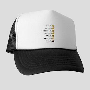 Emoji Days of the Week Trucker Hat