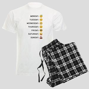 Emoji Days of the Week Men's Light Pajamas