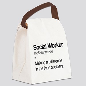Social Worker Definition Canvas Lunch Bag